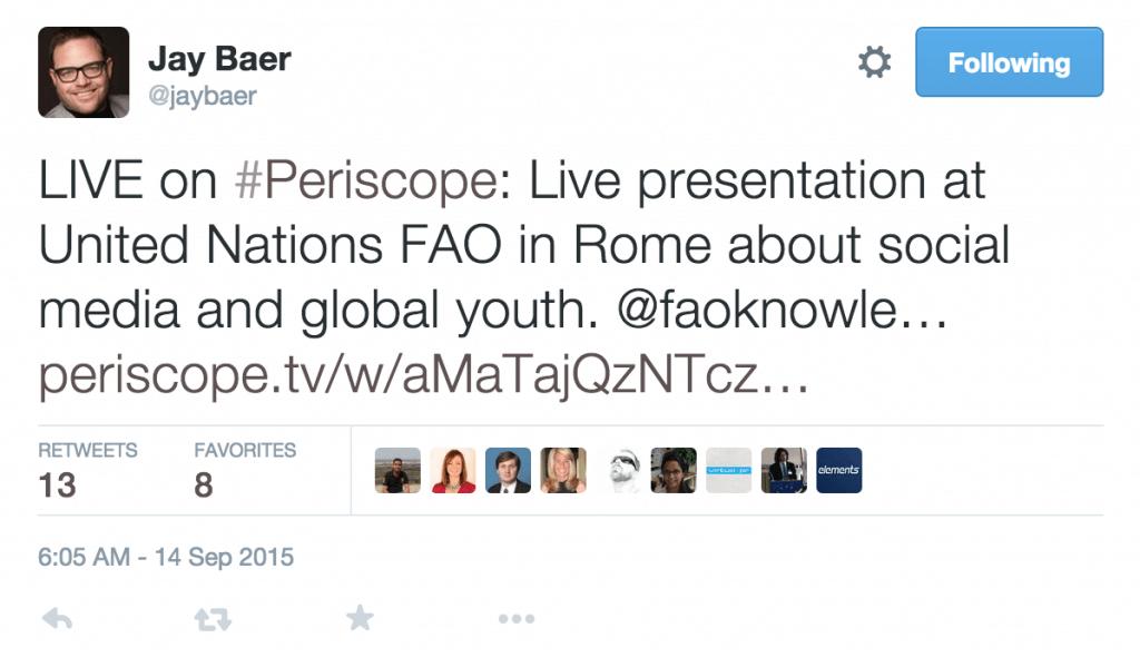 Jay Baer on Periscope