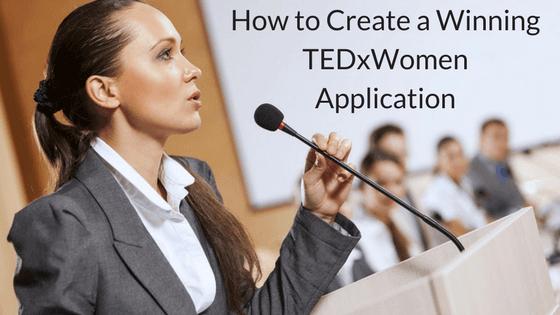 speak at TEDxWomen